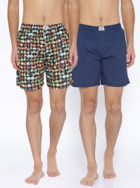 For 499/-(55% Off) Bandit Pack of 2 Printed Boxers BXRA24 at Myntra