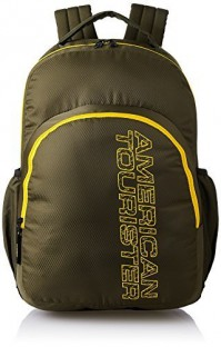 For 572/-(79% Off) American Tourister 27 Ltrs Olive Casual Backpack (AMT STRATOS BP-02 OLIVE/YELLOW) at Amazon India
