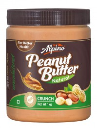 For 275/-(35% Off) Alpino Natural Crunch Peanut Butter 1kg (Unsweetened) at Amazon India