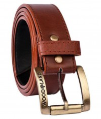 For 216/-(82% Off) Woodland Brown Faux Leather Casual Belt - Pack of 1 at Snapdeal