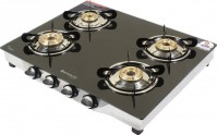 For 2799/-(67% Off) Wonderchef Ruby Glass, Stainless Steel Manual Gas Stove  (4 Burners) at Flipkart